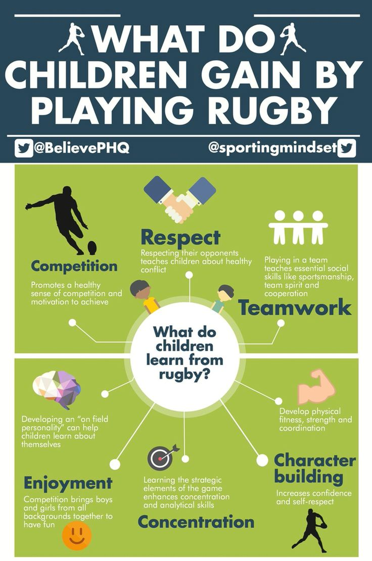 What children gain from playing rugby