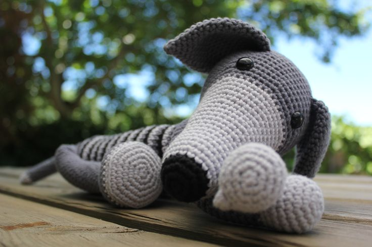 Relaxing Greyhound Crochet Toys Amigurumi Crochet Toys