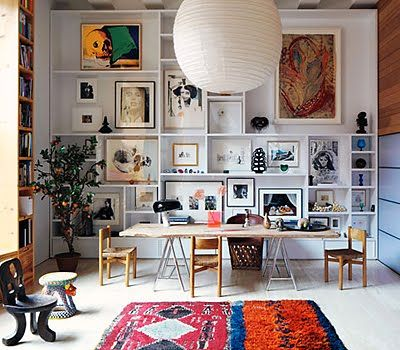 Looking for ideas and inspiration for our middle living room....one to house all our books and some toys......this is getting near my vision!