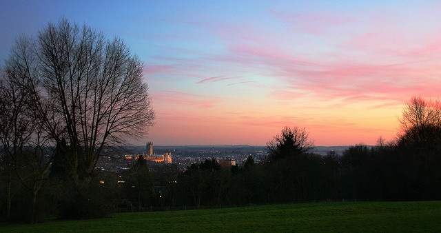 Evening over Canterbury, from University of Kent
