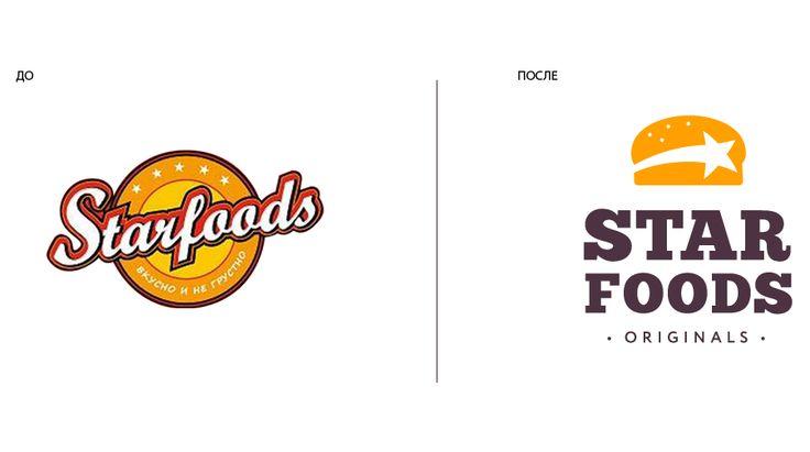 StarFoods: Фотосъемка, Брендбук, Ритейл брендинг, Разработка логотипа, Ребрендинг, рестайлинг, Дизайн интерьера, Фирменный стиль, Дизайн упаковки и дизайн этикетки, Создание сайта