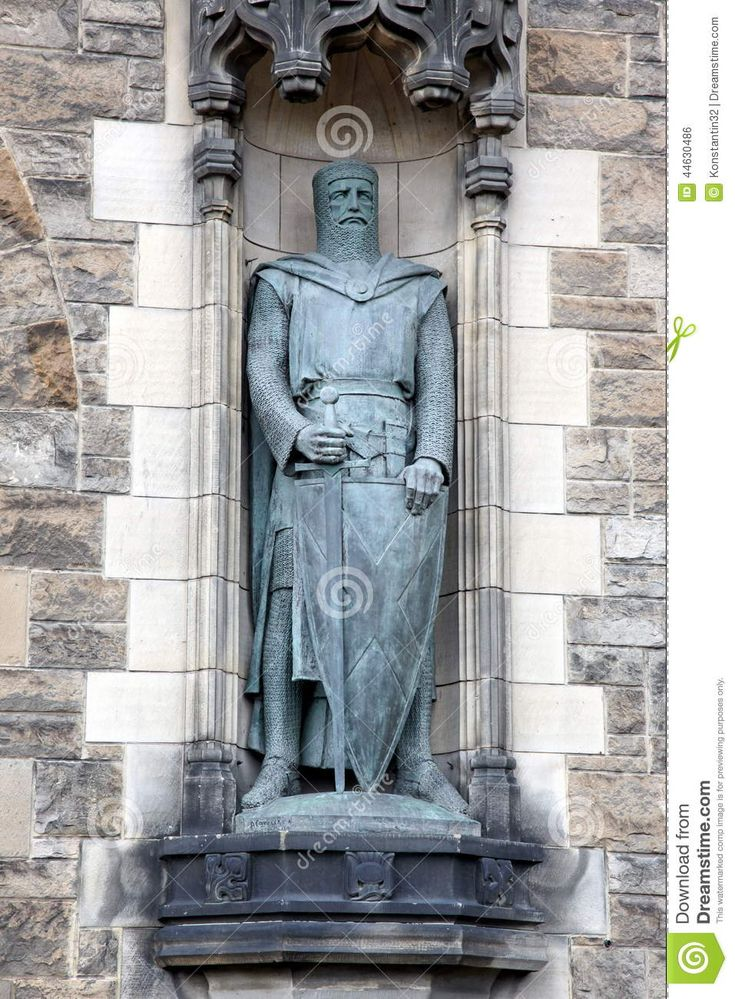 Statue Of William Wallace At Edinburgh Castle Stock Photo - Image: 44630486