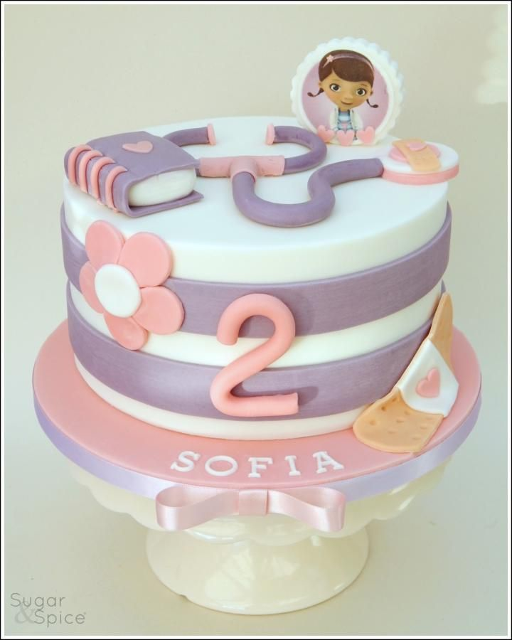 Doc McStuffins birthday cake ... The Doc is in ...  - Cake by Sugargourmande Lou https://www.facebook.com/SugarandSpiceGourmandise