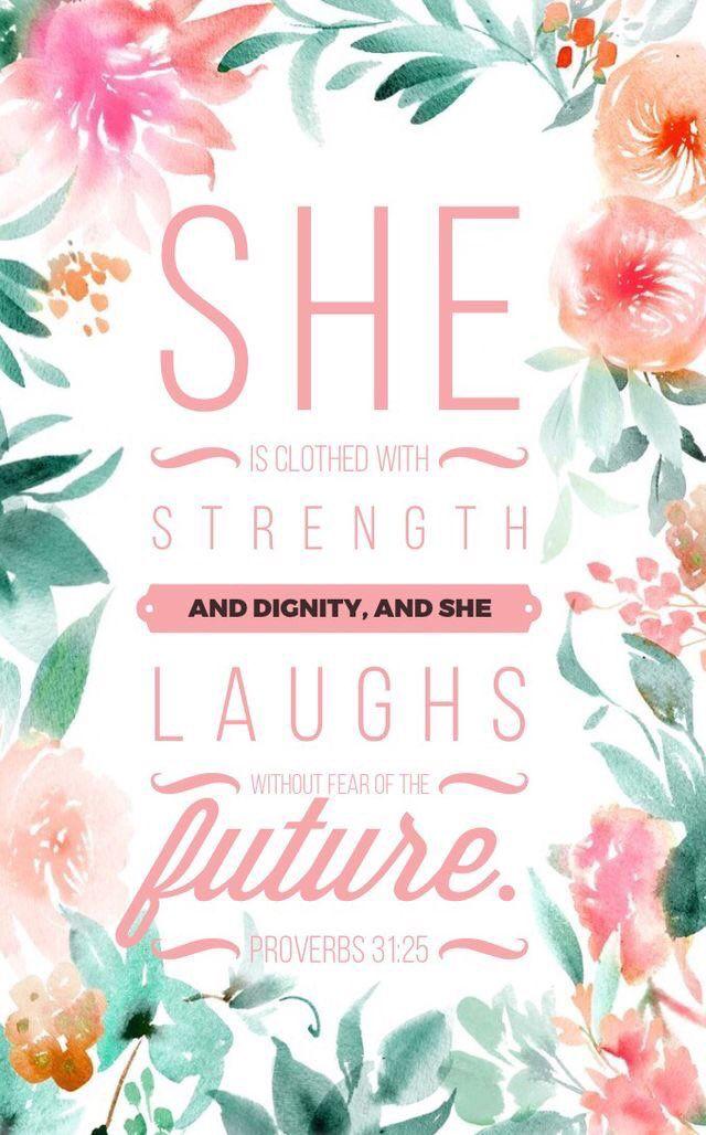Bible verse iPhone wallpaper// Proverbs 31:25-26