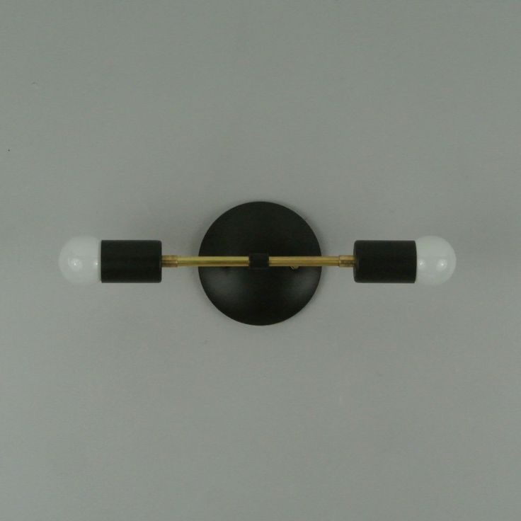 Two Tone Double Bare Bulb Wall Sconce