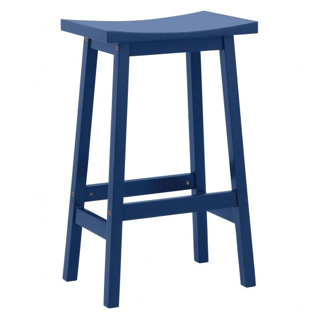 Tuck Navy Blue Painted Bar Stool H67cm Blue Bar Stools Painted Bar Stools Bar Stools