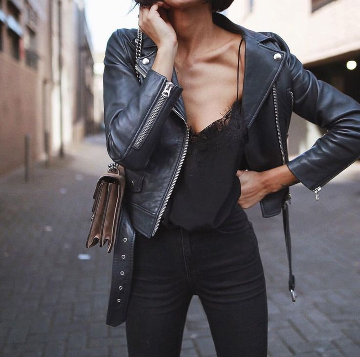 50+ Best Black Leather Jacket – Leather Jacket Black # # Style   – Stil Mode