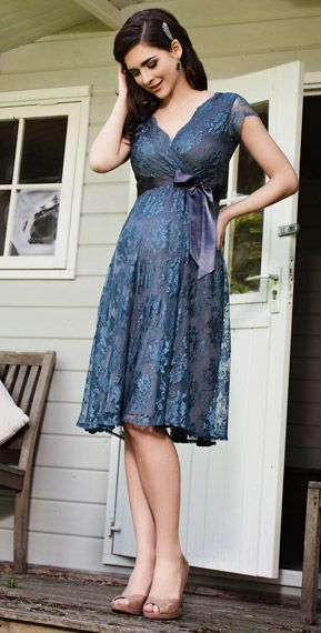 Eden Maternity Gown Short (Caspian Blue) by Tiffany Rose I want my bridesmaids dresses to look like this!