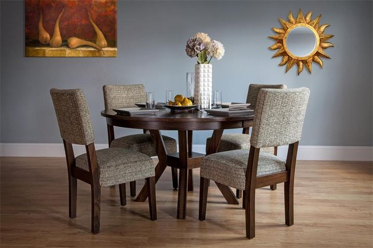 Bring graceful elegance to every meal with our handcrafted Amish Fulton Dining Room Set.