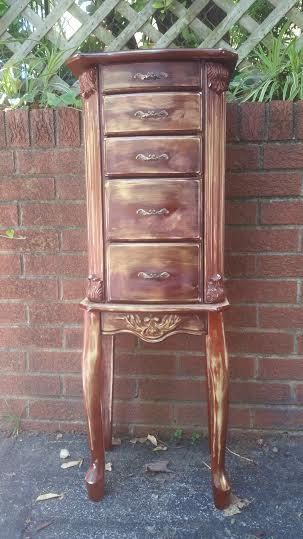 Jewelry Armoire - Large Jewelry Armoire - Tall Jewelry Box - Jewelry Chest…