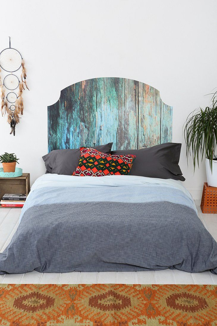Wooden Headboard Wall Decal. Cool idea for those of us who don't have headboards.