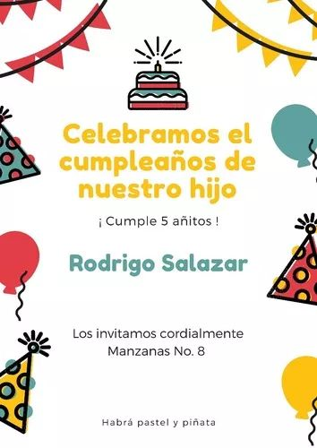 invitaciones de cumpleaños, xv años y demás personalizables