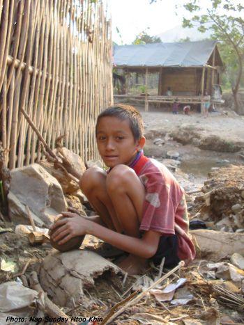 Karen People: Life in Picture Children in Camp Life