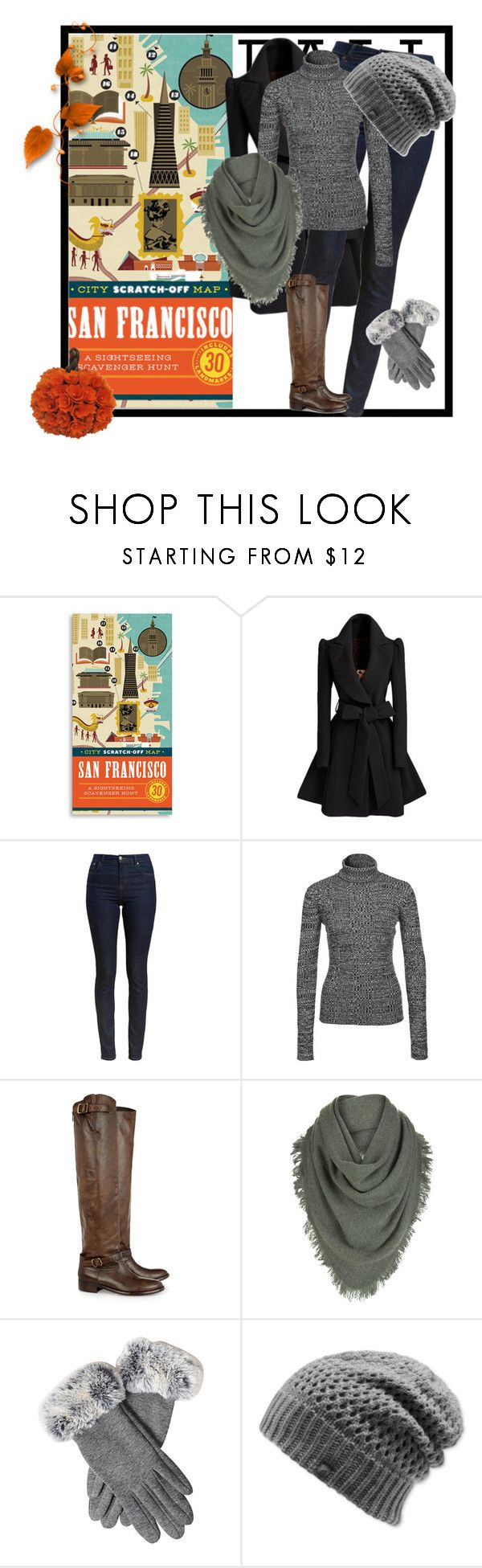 """""""san francisco travel outfit"""" by armsdani ❤ liked on Polyvore featuring Chronicle Books, Barbour, NLY Trend, Belstaff, White + Warren and The North Face"""