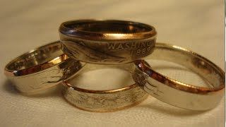 Make Double Sided Rings out of Coins - Secrets and Tips - YouTube