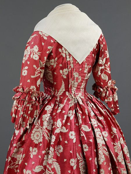Britain, UK (made) | Date: 1760-1769 (made) | 1740-1749 (hand woven) | Artist/Maker: Unknown (production) Materials and Techniques: Silk, lined with linen, hand woven and hand sewn