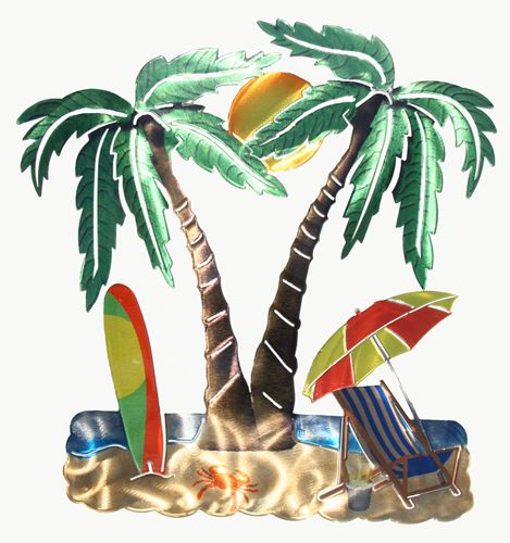 Palm Tree Metal Wall Art 14 best wall art images on pinterest | metal walls, tropical and