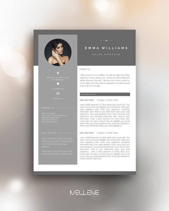 Resume Template 3 Page Cv Template Cover Letter Instant Download For Ms Word Emma Cv Template Resume Template Cv Resume Template