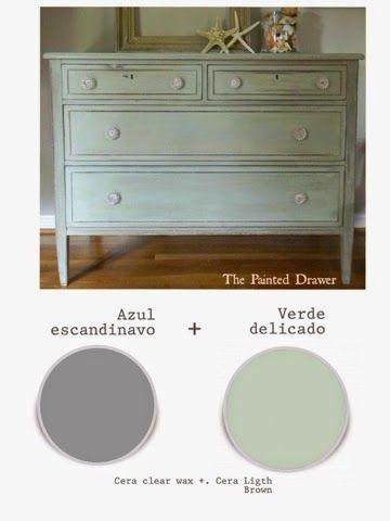 Mezclas de color Autentico chalk Paint y técnicas sobre mueble. | LA CÓMODA ENCANTADA