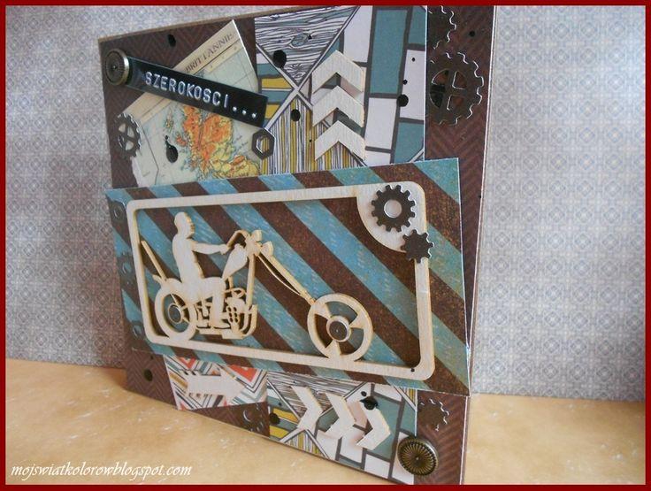 Kartka dla fana motocykli....