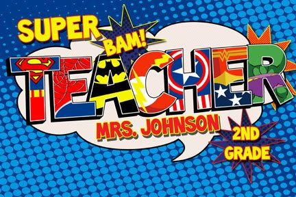 Super Teacher Poster Digital File by RKRcreations on Etsy, $10.00