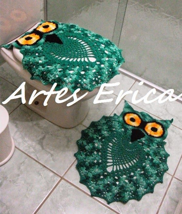 ARTES ERICA: Corujas no Banheiro!