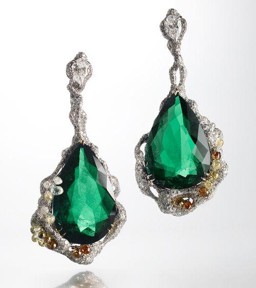 Cindy Chao boucles d'oreilles Emerald Drop
