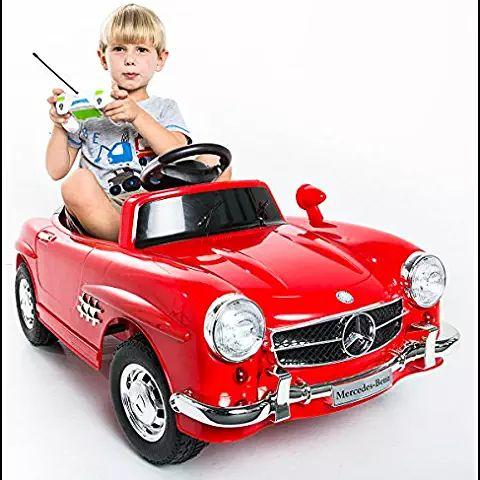 Elektroauto Kinderauto Elektrofahrzeug MP3 Fernbedienung für Kinder Mercedes-Benz 300SL Schwarz mit Fernsteuerung