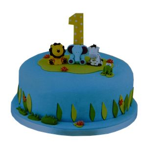 sevimli hayvanlar doğum günü pastası, 1 yas  butik pasta, ankara butik pasta, 1 yaş doğum günü pastası, Morde 1 yaş sevimli hayvanlar pastası