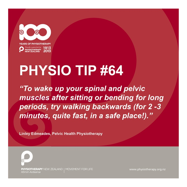 #physio tip of the day - walking backwards
