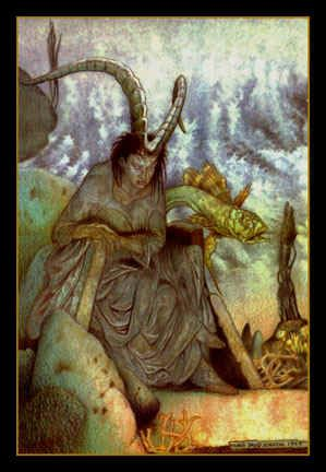 Domnu, Goddess mother of the Fomorians - In The Silurian, book 3, Owen White-tooth threatened to bring a Formorian army with him to battle against Arthur; Bedwyr thought the Formorians were real warriors of the Gaels, and this threat caused him a lot of worry.