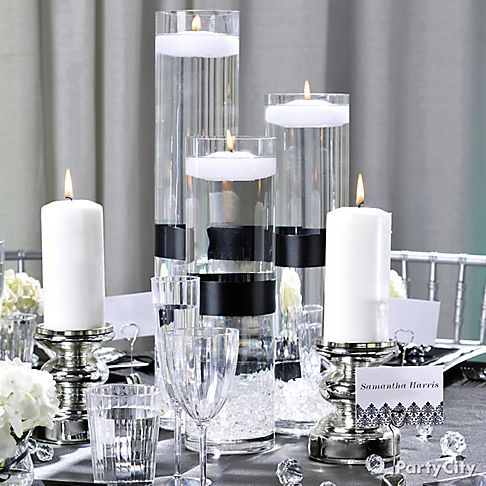 Black and White Party Centerpieces | related links shop by wedding color shop wedding table decorations & black and silver table decoration ideas | My Web Value