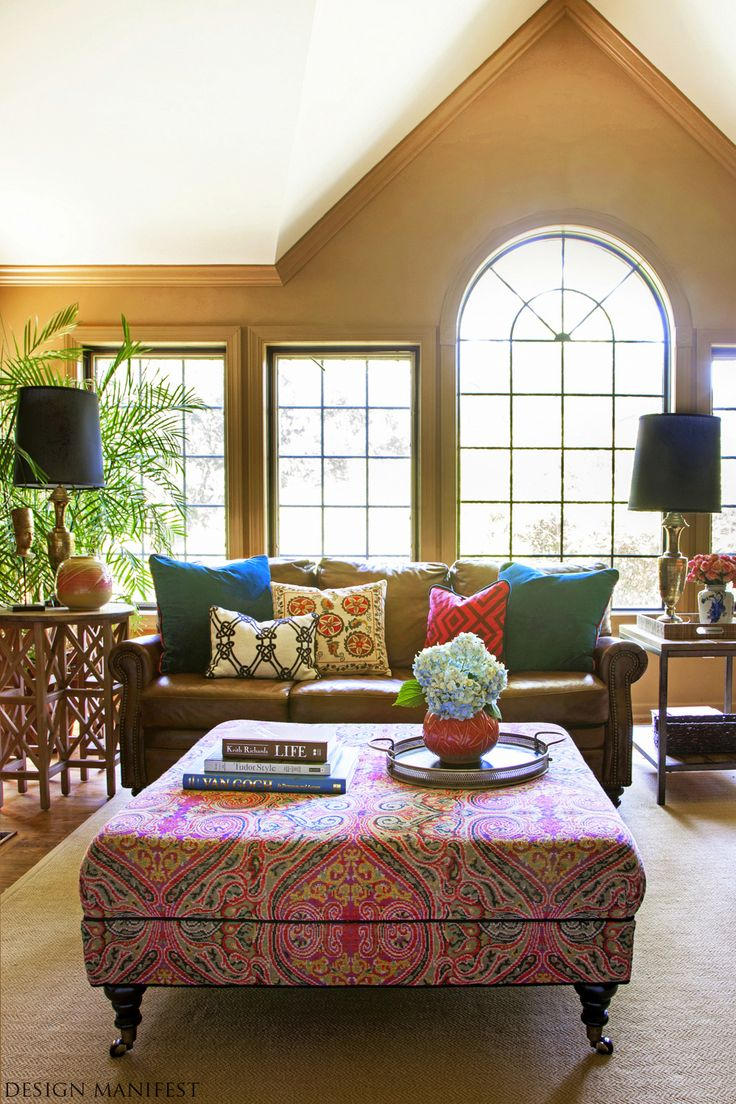 Classy Bohemian Style Living Room Designs Collection : Enticing Gold And  White Bohemian Living Room Design