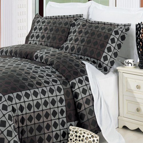 mens bed sets teen boys bedding size geometric grey black duvet 12373