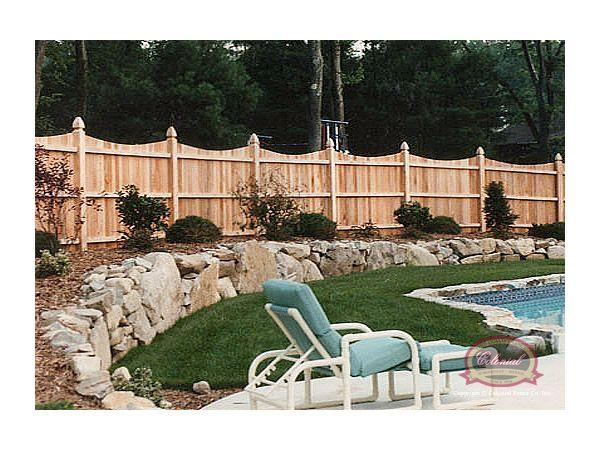 Scalloped Stockade Fence|Cedar Stockade Fence|Wood Fences|Privacy