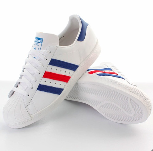 Adidas Superstar Vintage Red/Blue edition