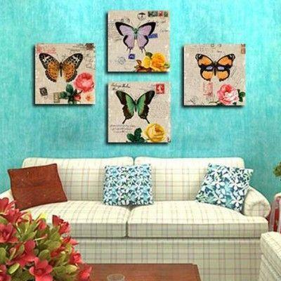 pintura para salas modernas un juego de cuadros bellas mariposas