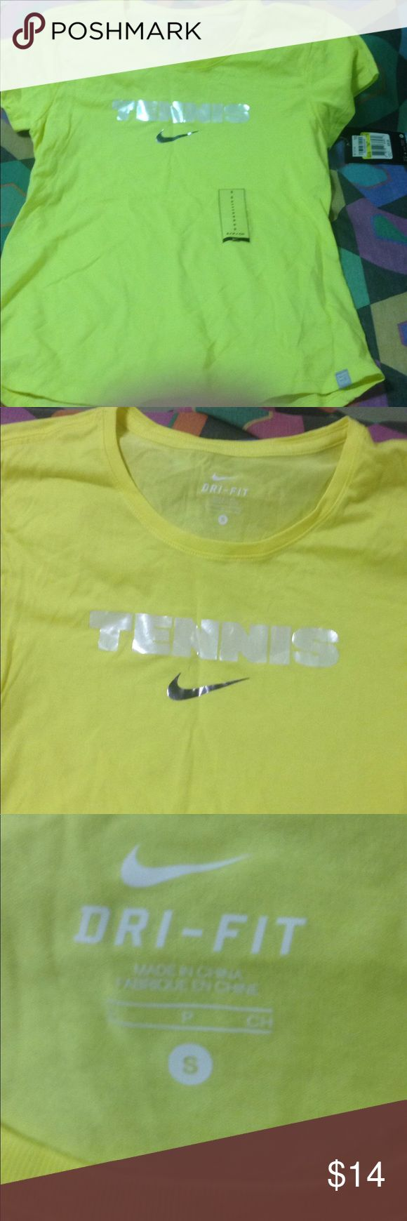 Women's new tee size small color Yellow Women's tee shirt sleeves sizes medium color Yellow brand Nike original tags Nike Tops Tees - Short Sleeve
