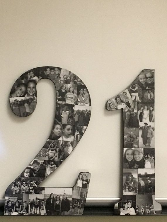 Wooden Number Picture Collage by WoodYouLikeACollage on Etsy