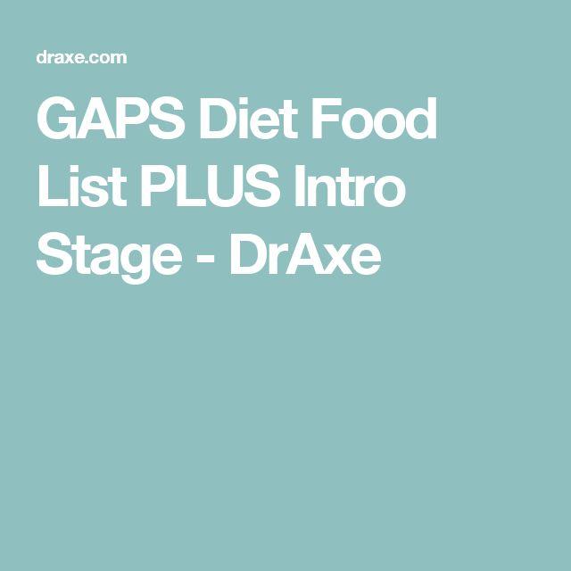 Gaps Diet Stage  Food List