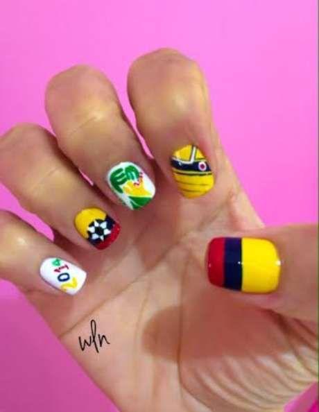 Uñas decoradas para apoyar a tu equipo en el Mundial Brasil 2014