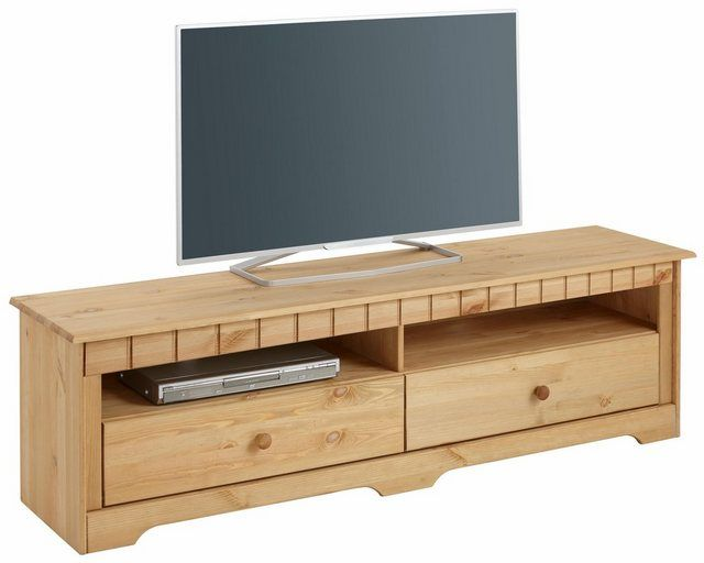TV Lowboard Landhausstil TV Regal Schrank aus Kiefernholz kolonialfarben NEU