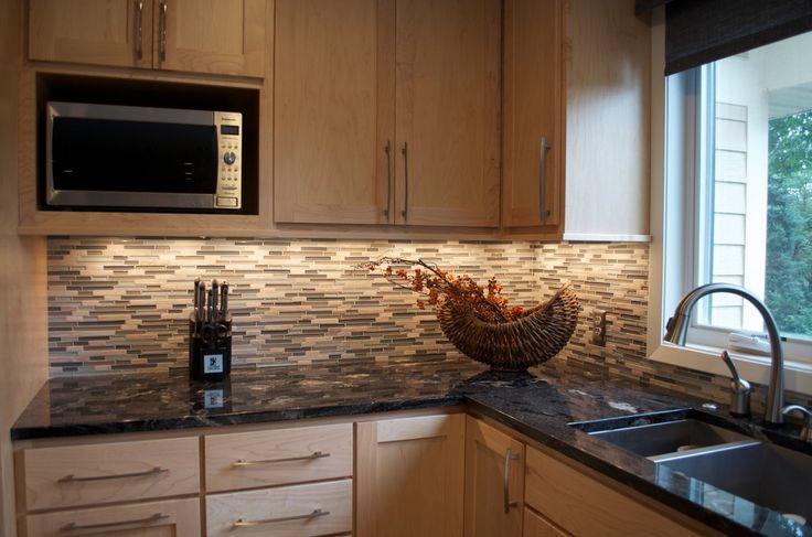 Beguiling Maple Cabinets With Black Granite Image Decor