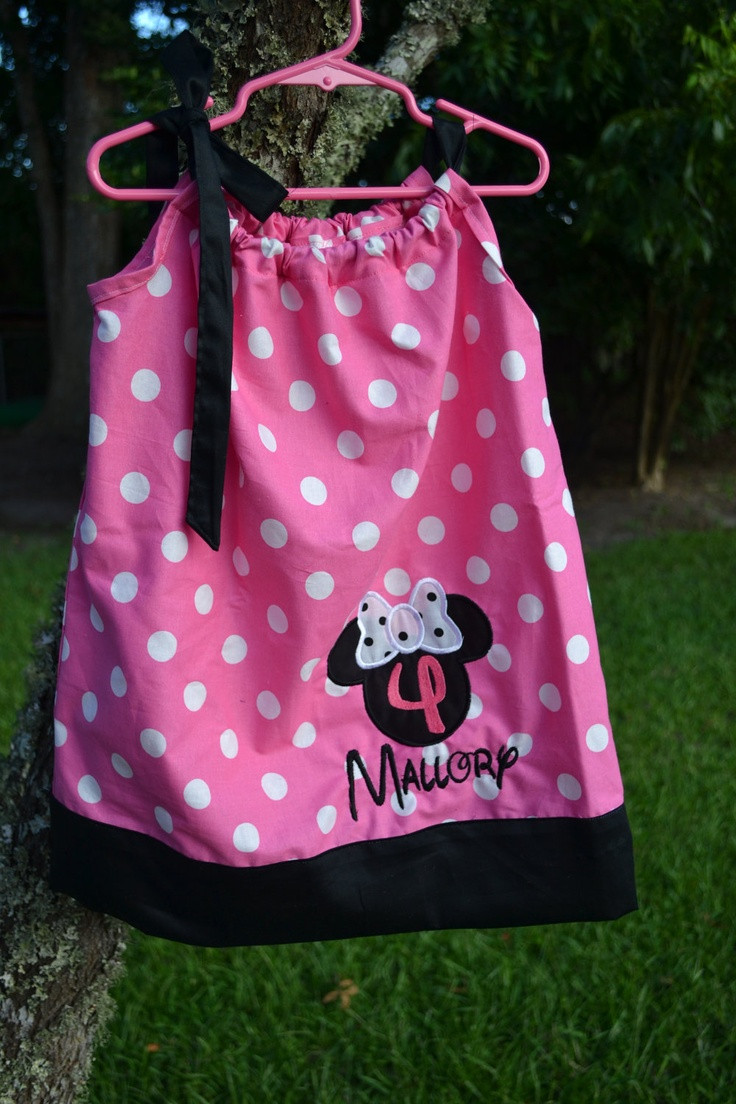 Personalized Minnie Mouse Pillowcase Dress in Pink with White Polka dots birthday school Disney & 83 best Olivia images on Pinterest   Birthday ideas Minnie mouse ... pillowsntoast.com