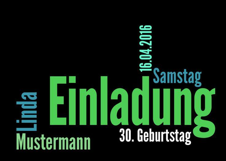 Moderne Einladungskarte Zum 30. Geburtstag