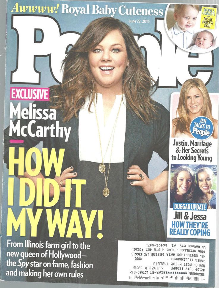 Melissa McCarthy Prince George Charlotte People Magazine June 22 2015 Aniston   #notapplicable