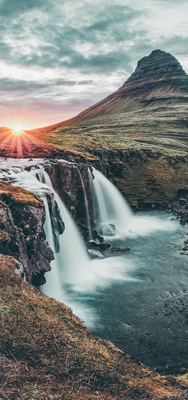 Kirkjufellsfoss Waterfall in Iceland! See 15 more of the most incredible waterfalls in Iceland on avenlylanetravel.com #iceland #europe #avenlylanetravel