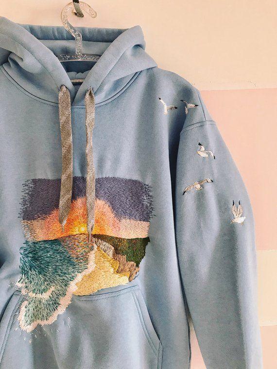 Aesthetic embroidery hoodie diy