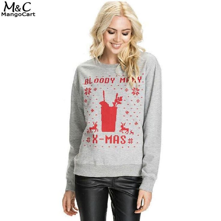 "Holiday Sweatshirt Women ""Bloody Mary Xmas"""