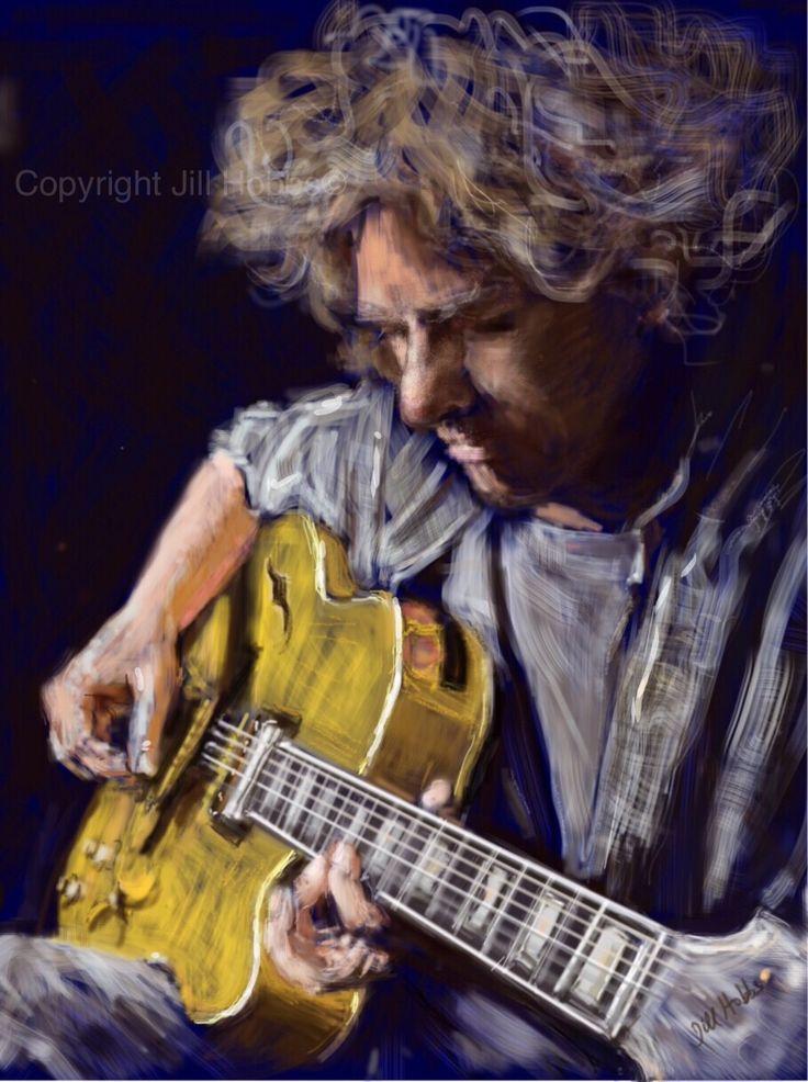 iPad painting of Jazz Guitarist  Pat Matheny.